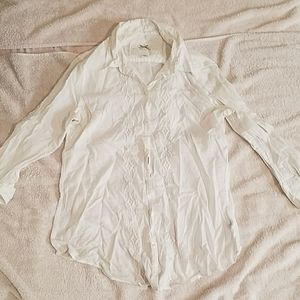 banana republic white button down